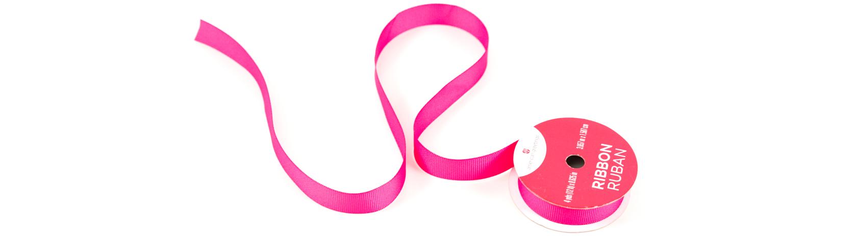 Bright pink ribbon